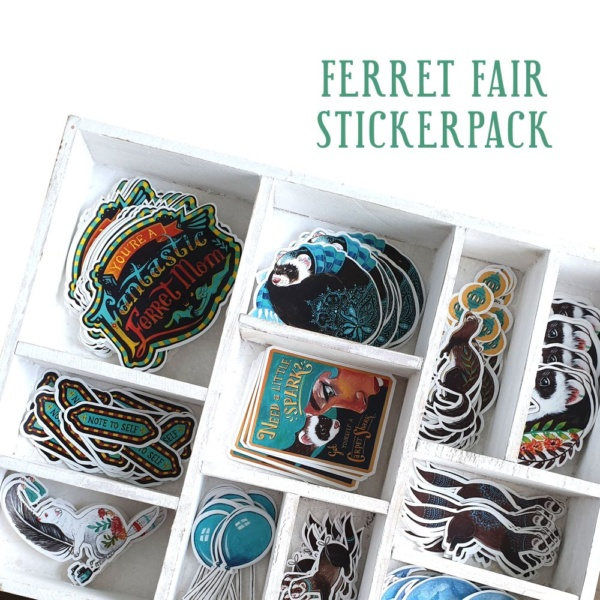Ferret stickers vinyl pet stickers planner stickers plannerstickers