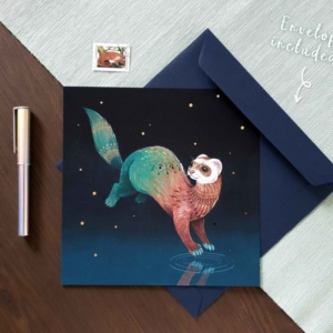 Ferret card pet sympathy card
