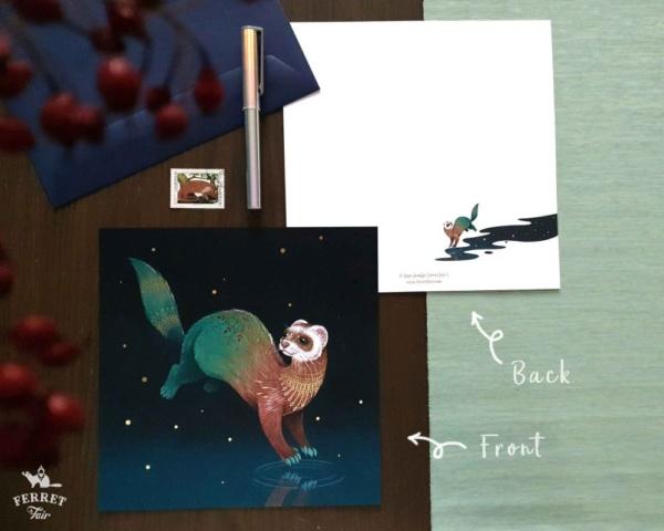 Ferret card pet sympathy card