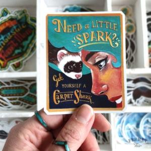 Ferret sticker vinyl pet sticker