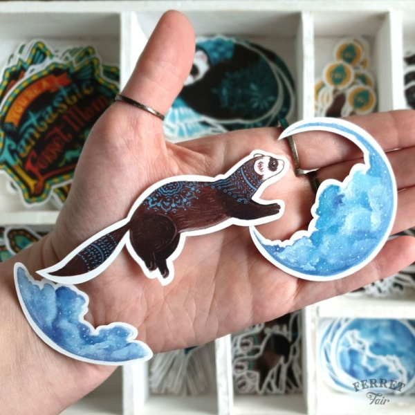 Ferret sticker vinyl pet sticker