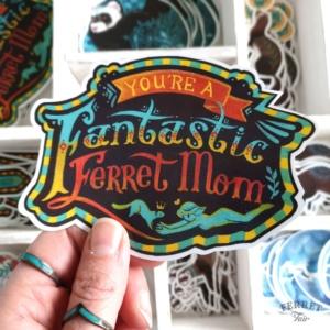 Ferret sticker ferret mom vinyl pet sticker