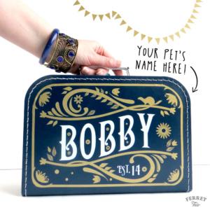 pet suitcase bed DIY ferret bed vintage suitcase custom pet name