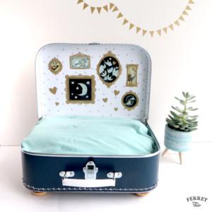 pet suitcase bed DIY ferret bed vintage suitcase