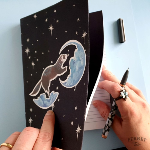 Ferret sticker vinyl pet sticker notebook